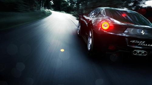 Cgi rendering design of Ferrari 458