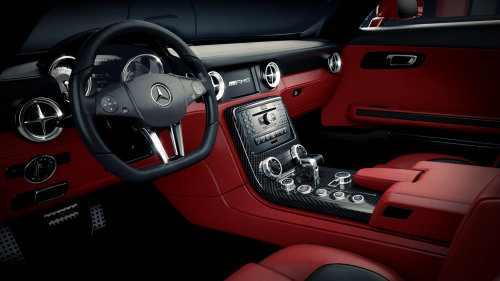 Cgi rendering art of Mercedes SLS