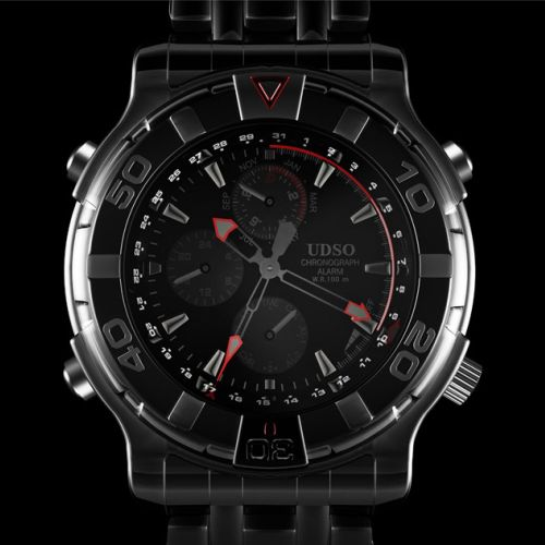 Realistic illustration of watch face