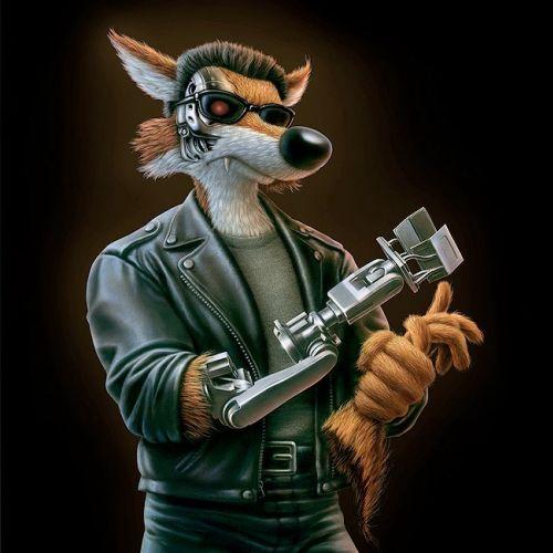 cartoon&humour wolf terminator