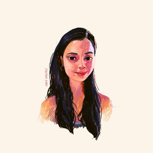 Karen Gonzalez self-portrait gif