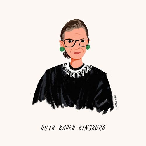 Ruth Bader Ginsburg painting, Former Associate Justice of the US Supreme Court