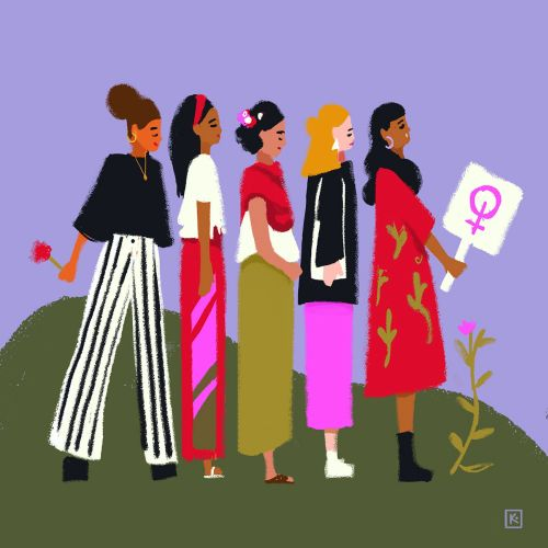 Mexican women illustration for Vogue Mexico Magazine