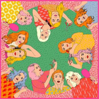 Cartoon of women hairdressers