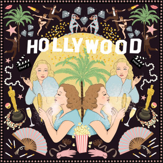 Hollywood Silk Pocket Square for men and Gavroche for women