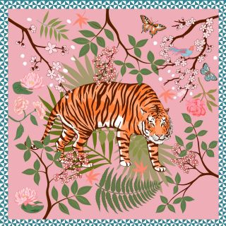 Karen Mabon Silk Tiger Print Scarf