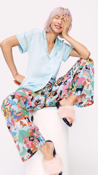 Model Exhibiting fancy dress dogs pyjamas