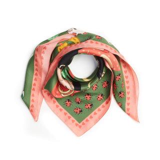 Lucky day silk scarf by Karen Mabon