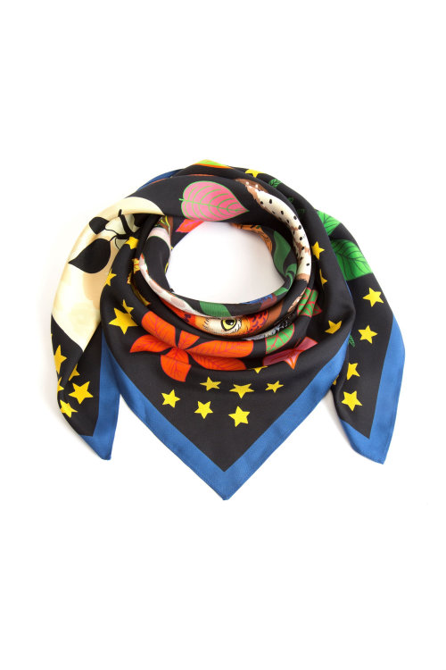 A Rolled Silk Scarf of Parliament of Night Owls