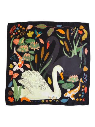 Swan Lake print on cloth for cushion
