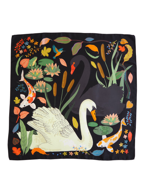 Swan Lake print on cloth for cushion