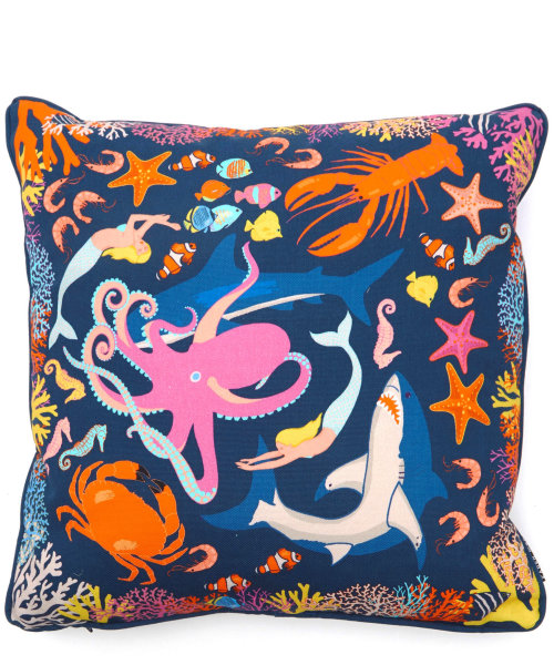 Illustration of Under the sea cushion