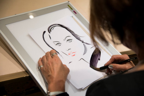 Live drawing for LUIS VUITTON by Katharine Asher