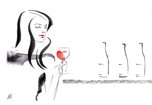 Line drawing of California Wine Tasting