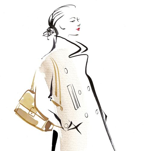 Fashion illustration for Louis Vuitton