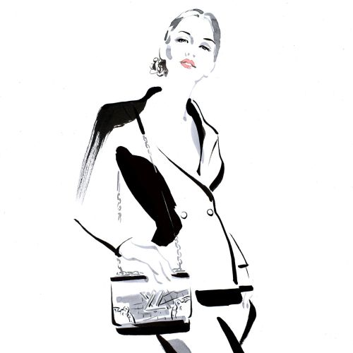Louis Vuitton fashion illustration