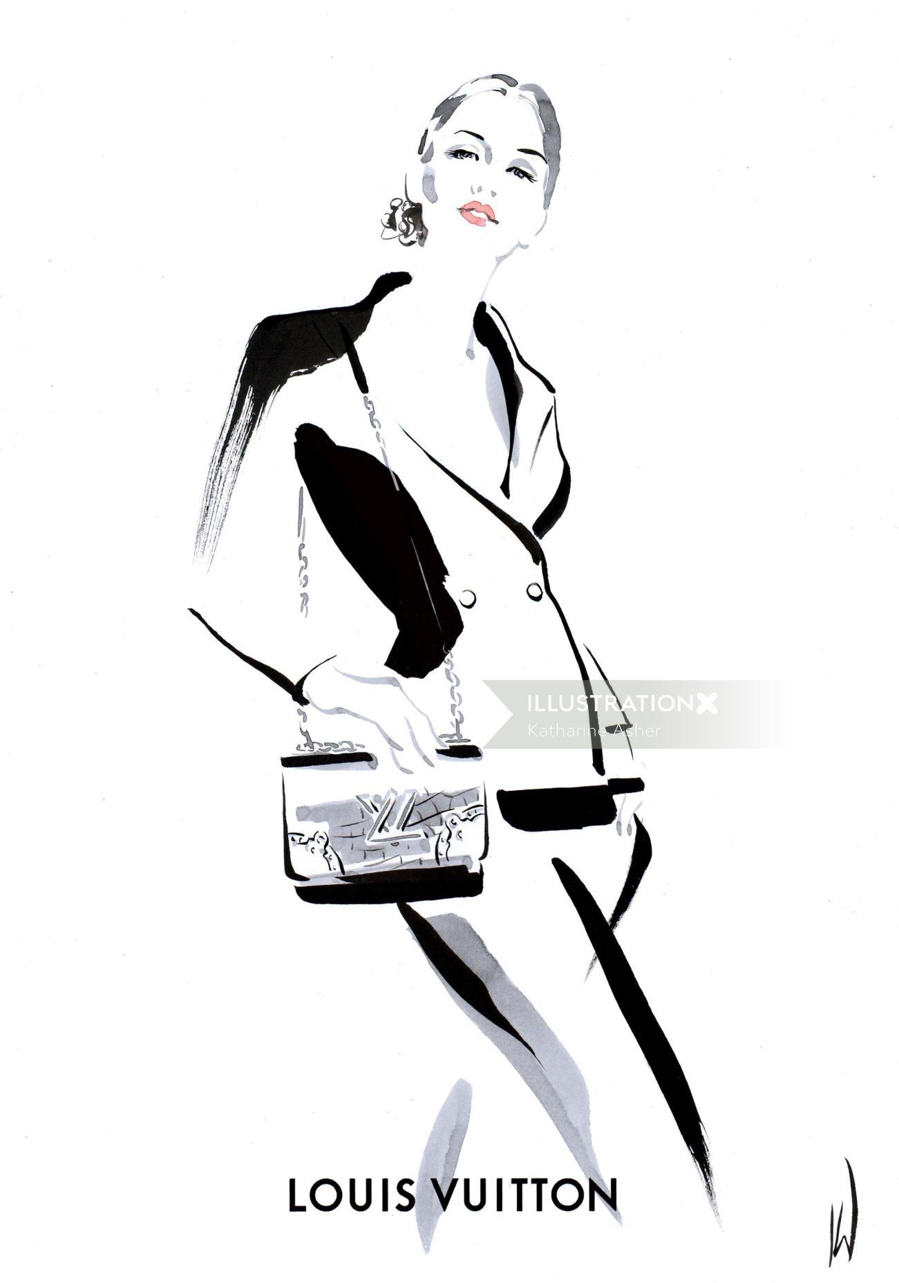 Louis Vuitton fashion illustration