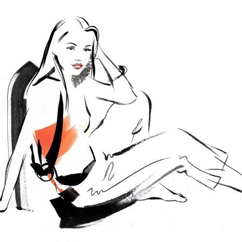 Fashion Lady Illustration By Katharine Asher