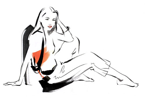 Fashion Lady Illustration By Katharine Asher