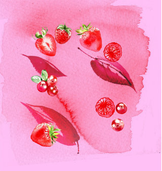 Strawberry lips illustration