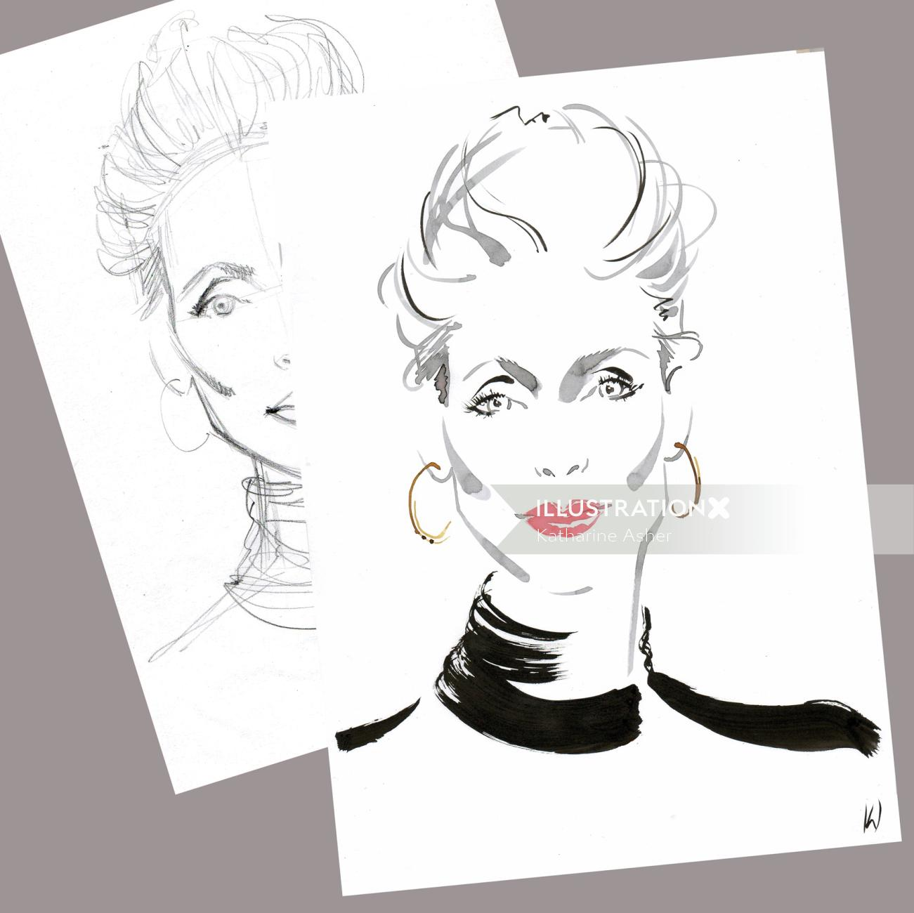 Live Event Drawing with YSL at Heathrow Airport