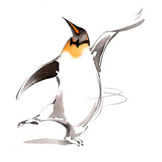 Dancing Penguin Character Design
