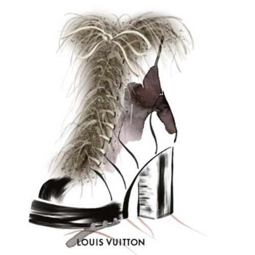 Fashion Louis Vuiton Boot animation