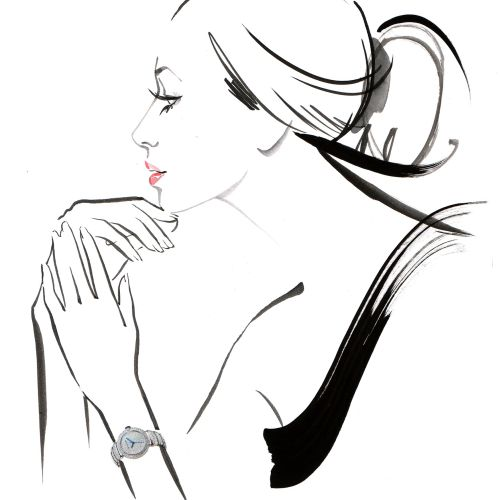 Live Event Drawing with Bvlgari by Katharine Asher