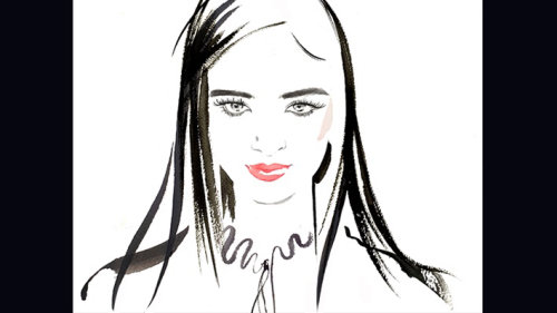 Dibujo de evento en vivo de moda digital, Richard Mille