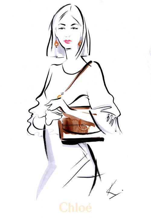 CHLOE C Bags figurative illustration