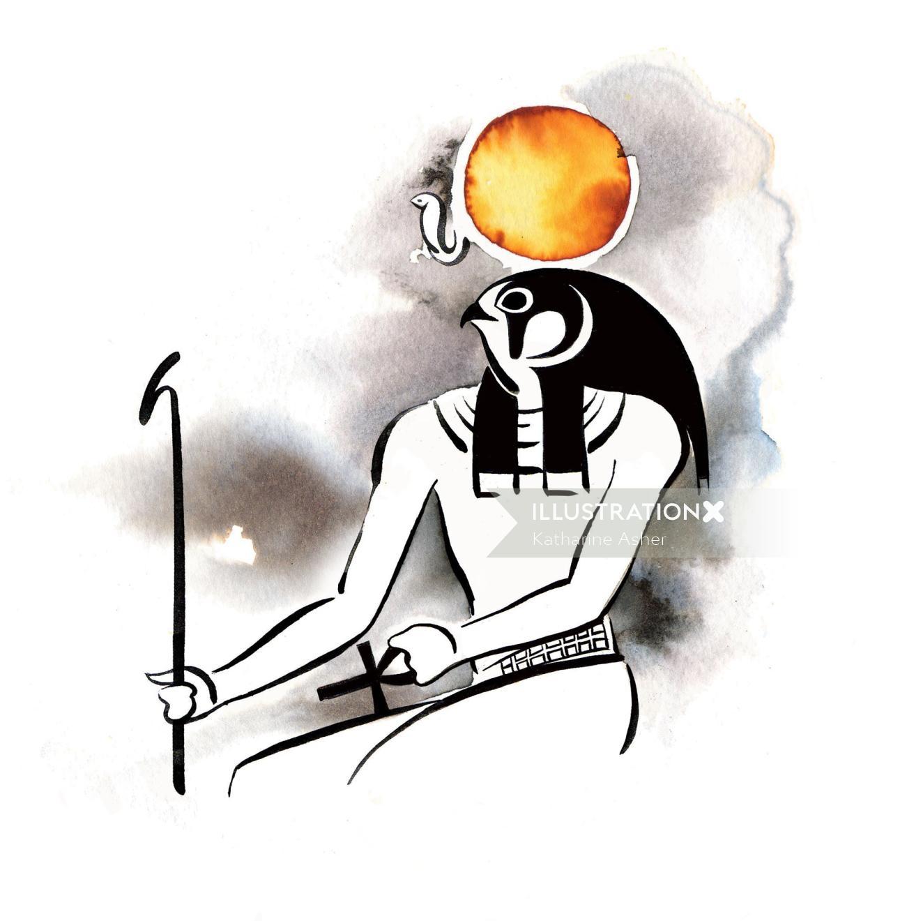 Surreal art EGYPTIAN GODS & GODDESSES