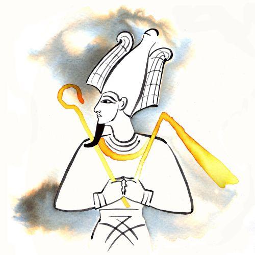 Osiris the mummified ruler of the netherworld