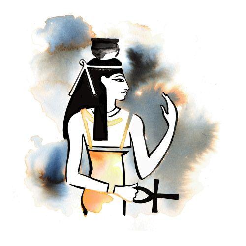 NUT- The sky Goddess line art