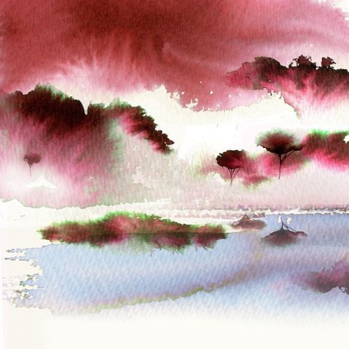 Jing Teas watercolour Red Dragon Painting