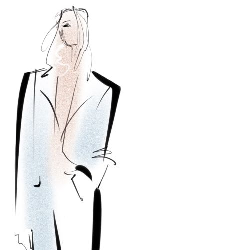 Suited n Booted  - live digital sketch for Bristol fashion Week 2019