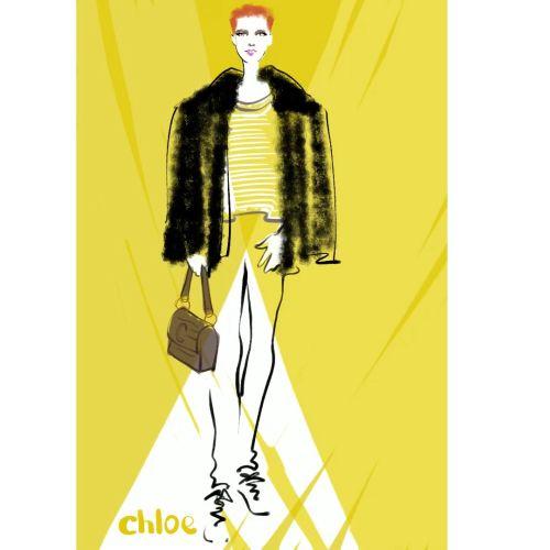 Digital live drawing for Chloe - new handbag range in Selfridges London
