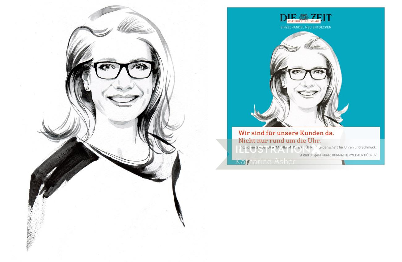 Fashion Model portrait for print