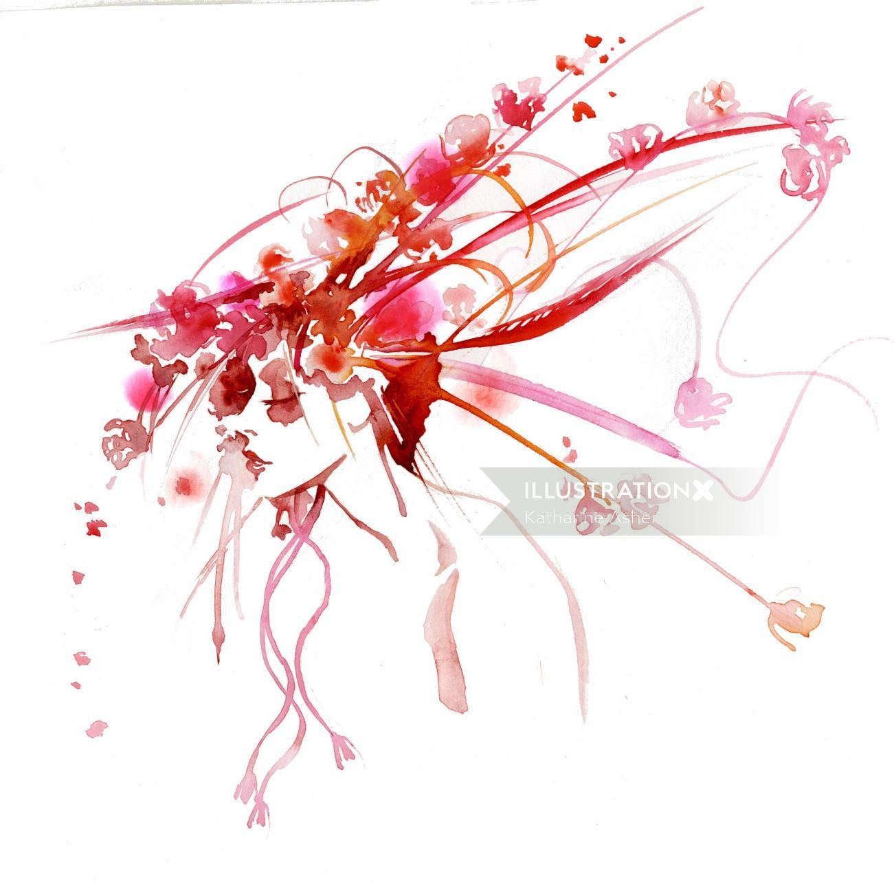 Watercolour edwina live drawing