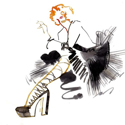 Katharine Asher Illustrateur international de figuration et de mode. Royaume-Uni