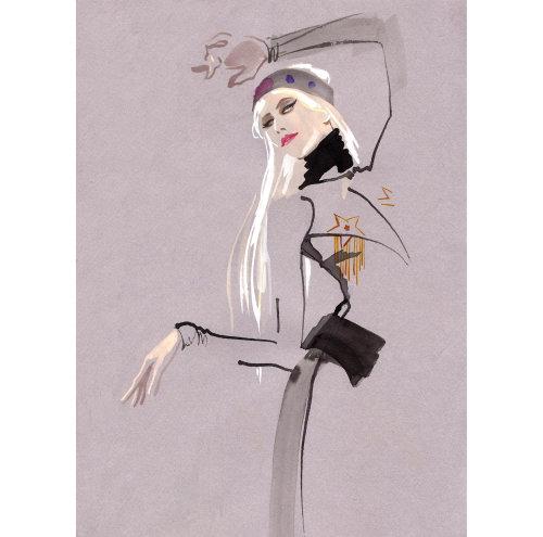 Fashion Drawing ami with an eye