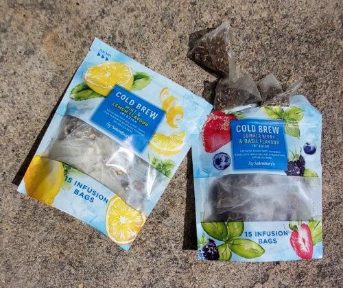 Packaging Sainsbury Cold Brew Teas