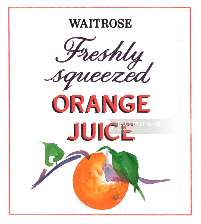Packaging Waitrose Orange Juice