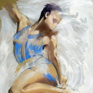 Woman model illustration by Katharine Asher