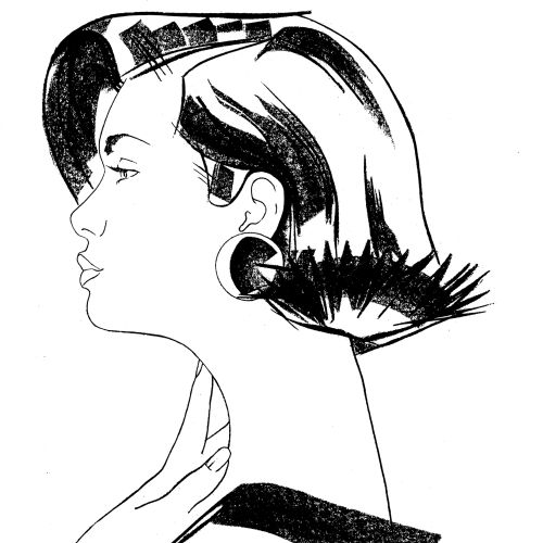 Wella hair care illustration by Katharine Asher