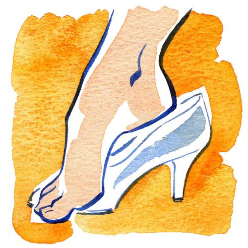 SCHOLL footcare illustration by Katharine Asher