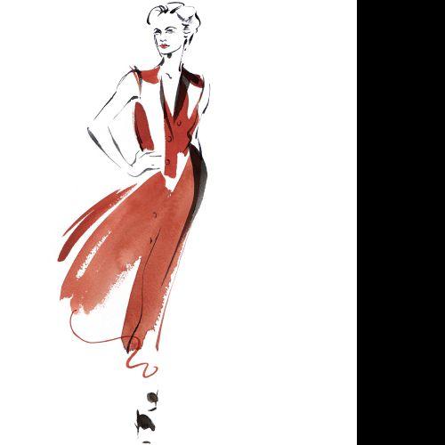 Woman pose illustration by Katharine Asher