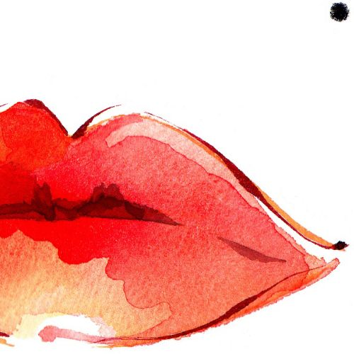 Lips illustration by Katharine Asher