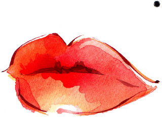 Lips illustration by Katharine Asher