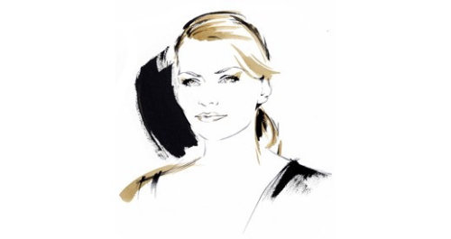 Animation of lady for Olay by Katharine Asher