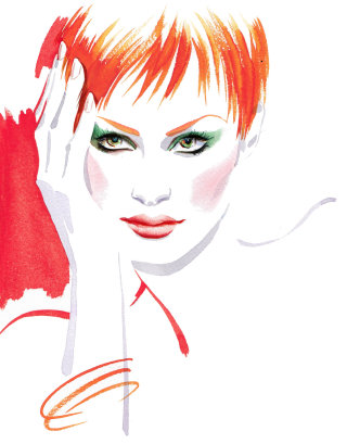 Fashion woman illustration by Katharine Asher